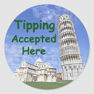 Tipping Accepted Here Sticker