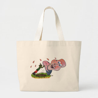 Tipping the head back large tote bag