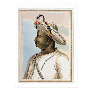 Tippoo Sultan (1749-99) plate from 'Picturesque Sc Postcard