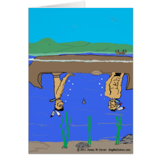 """Tippy Canoe"" Greeting Card"
