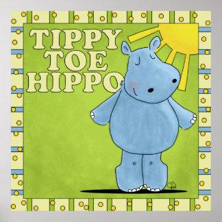 Tippy Toe Hippo Poster