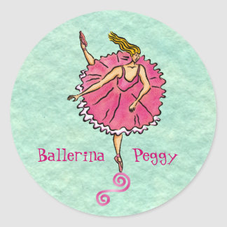 Tippy Toes Ballerina customizable Stickers