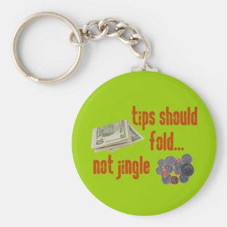 Tips should fold basic round button key ring