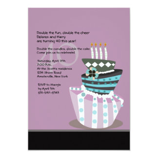 Tipsy Cake Birthday Party Invitation