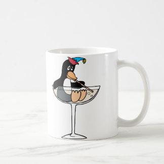 Tipsy Penguin Basic White Mug