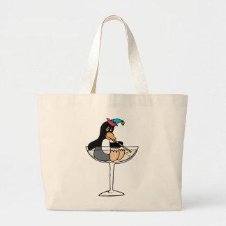 Tipsy Penguin Jumbo Tote Bag