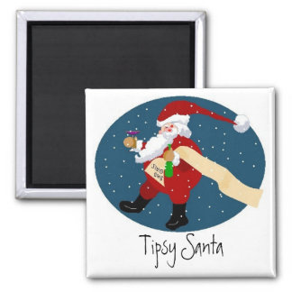 Tipsy Santa Magnet
