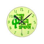 Tipsy Spiked Cactus Clocks