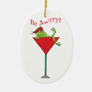 Tipsy-tini's Frog Christmas Ornament