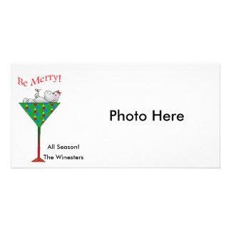Tipsy-tini's Hippo Photo Greeting Card