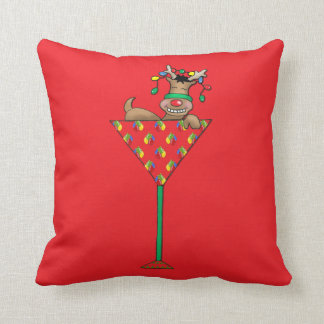 Tipsy-tini's Reindeer Cushion