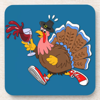 Tipsy Turkey (Wine) Coaster