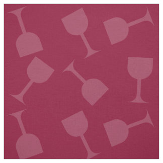 Tipsy Wine Glasses Fabric