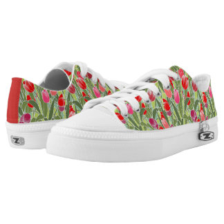 Tiptoe through the Tulips Printed Shoes