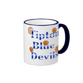Tipton Blue Devils Basketball Ringer Mug