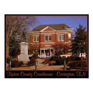 Tipton County Courthouse - Covington, TN Postcard