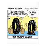 Tire Domestic Issues Funny Gifts Tees Collectibles Postcard