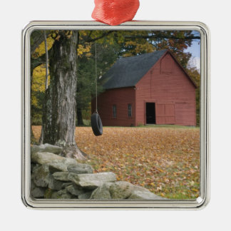 Tire swing along a road in Southern Vermont, Christmas Ornament