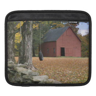 Tire swing along a road in Southern Vermont, iPad Sleeve