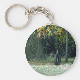 Tire Swing Basic Round Button Key Ring