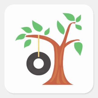 Tire Swing Square Sticker