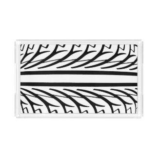 Tire Texture Abstract Pattern Acrylic Tray