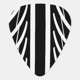 Tire Texture Abstract Pattern in Black and White Plectrum