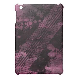 Tire Track Grunge iPad Case (pink)