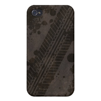 Tire Track Grunge iPhone 4 Case (black)