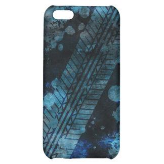 Tire Track Grunge iPhone 4 Case blue