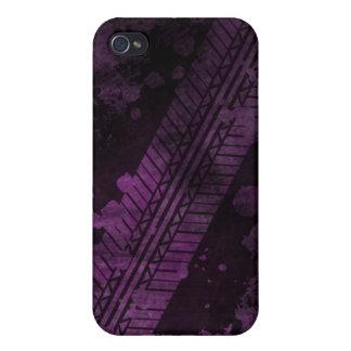 Tire Track Grunge iPhone 4 Case (purple)