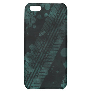 Tire Track Grunge iPhone 4 Case teal