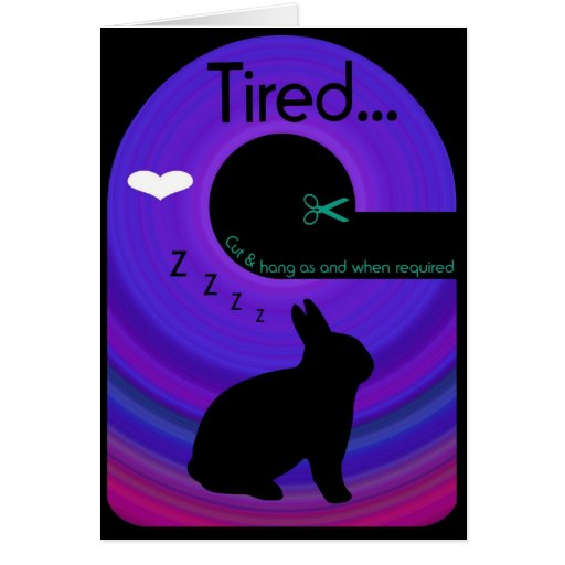 Tired Bunny!..Send a Gift Card Door Hanger Greeting Cards