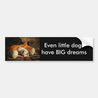Tired Cowboy Puppies Bumper Sticker