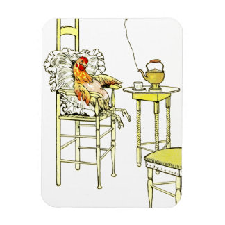Tired Hen Having a Cuppa Magnets