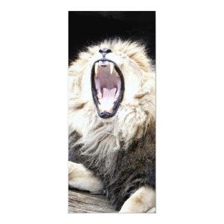 tired lion 10 cm x 24 cm invitation card