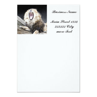 tired lion 13 cm x 18 cm invitation card
