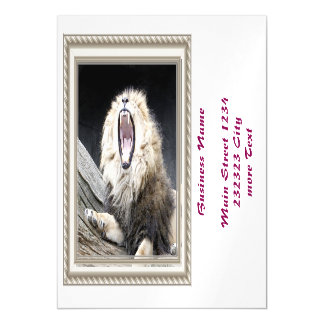 tired lion magnetic invitations