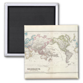 Tired World Map 8_Maps of Antiquity Square Magnet