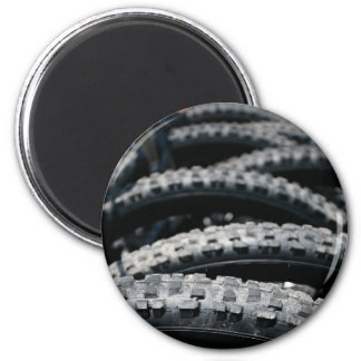 Tires 6 Cm Round Magnet