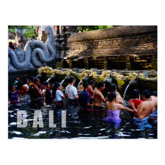 Tirta Empul Temple in Bali, Indonesia Postcard