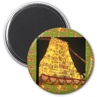 TIRUPATI Hindu Temple : South India 6 Cm Round Magnet