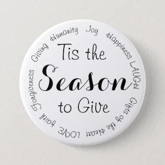 Tis the Season Christmas Inspirational Button