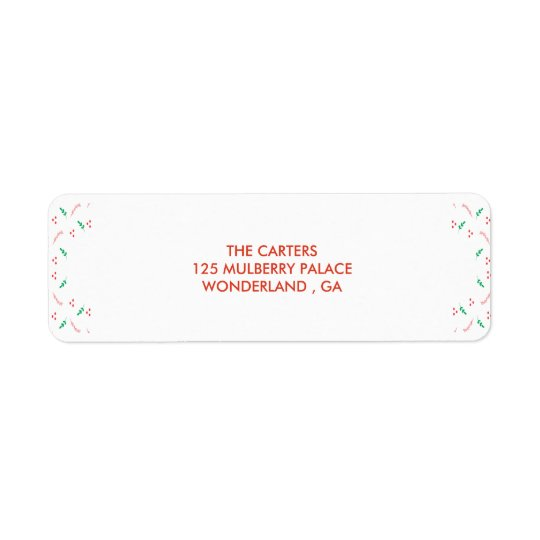 Tis the season christmas Label Return Address Label