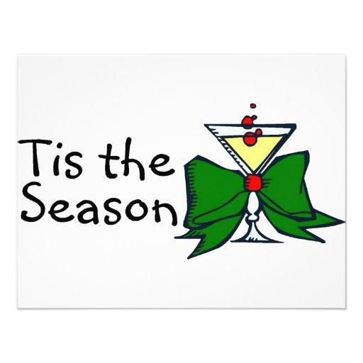 Tis The Season Drink Custom Invites