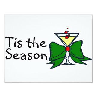 "Tis The Season Drink 4.25"" X 5.5"" Invitation Card"