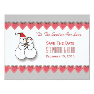 'Tis The Season For Love Save The Date Card