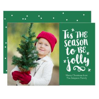 'Tis the Season Green Holiday Photo Card