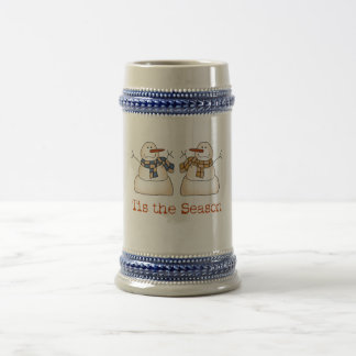 Tis the Season Holiday Cups 18 Oz Beer Stein