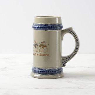 Tis the Season Holiday Snowmen Mug